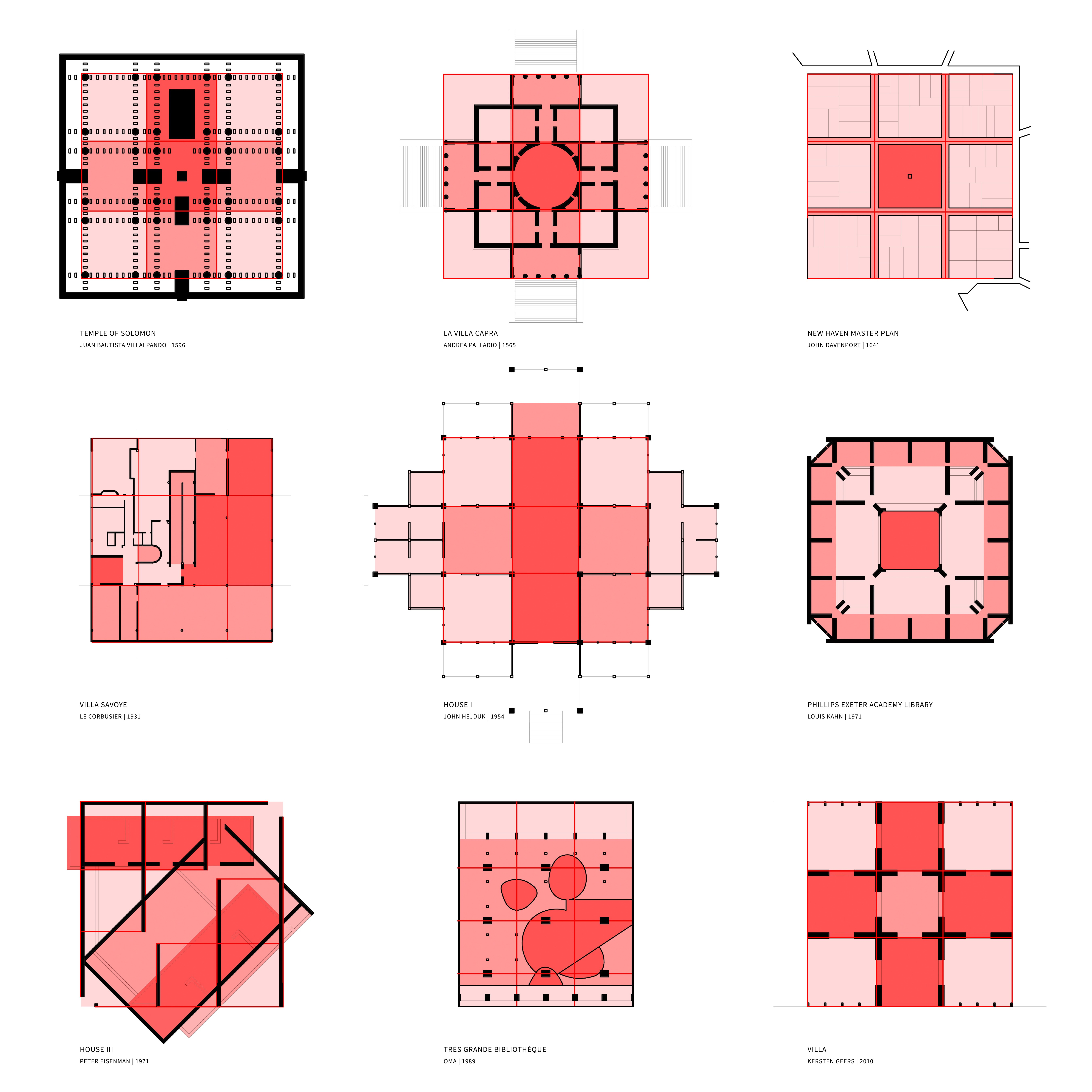 the nine-square grid  history  exemplars  and interrogation