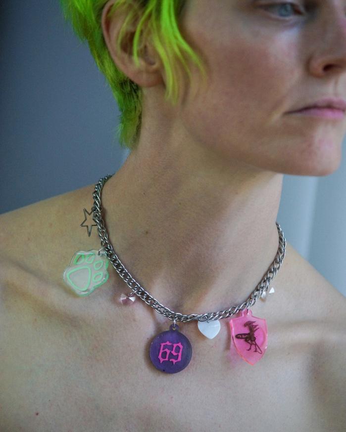 69 Pawprint Xenomorph Boner Charm Necklace