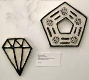 Diamond and Pentagon Plaques (for the Reagans) [Set of 2]
