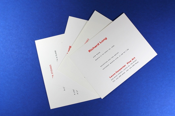 Richard Long : New Work, March 11 to April 22, 1995 [Pair of Invitation Cards] thumbnail 2