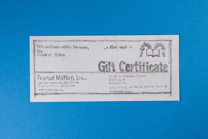 $1000 Gift Certificate, 2008