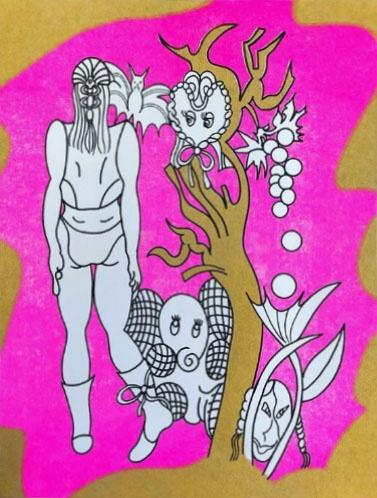 Brie Moreno Risograph Print
