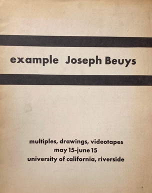 Some Artists, for Example Joseph Beuys