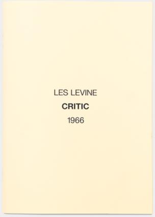 Critic, 1966
