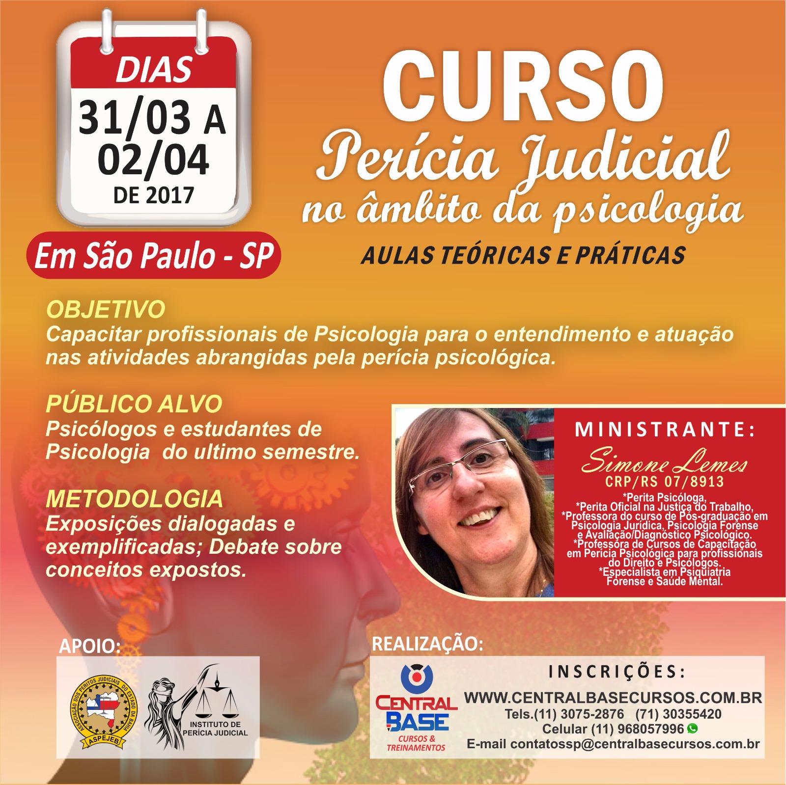 PERÍCIA JUDICIAL NO ÂMBITO DA PSICOLOGIA - SÃO PAULO/SP