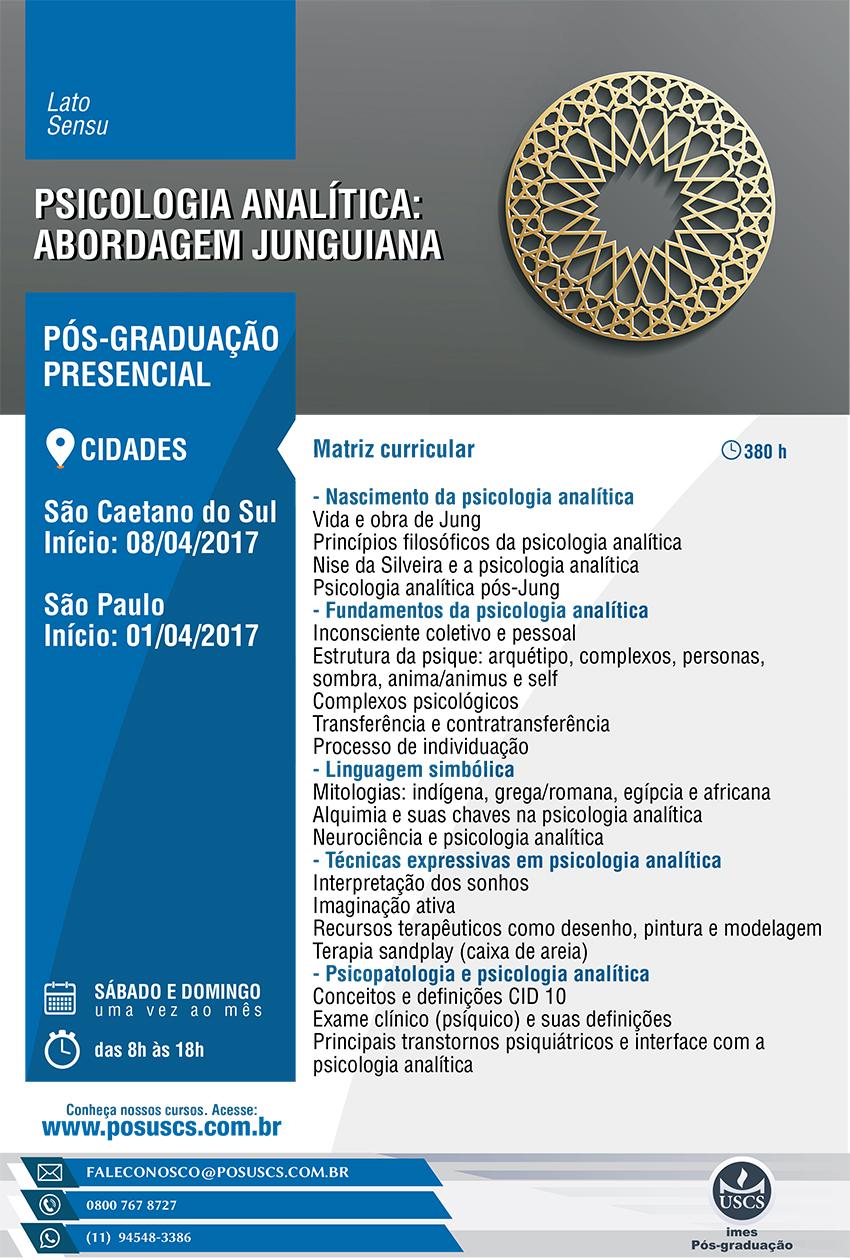 Pós-Graduação: Psicologia Analítica Abordagem Junguiana