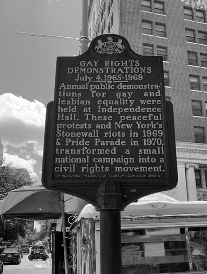FIG. 3: Independence Hall, Reminder Days plaque, Philadelphia, 2019. Photograph by the author.