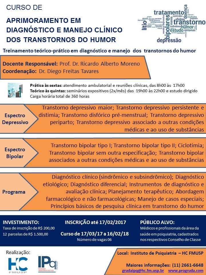 Curso de aprimoramento em diagnóstico e manejo clínico dos transtornos do humor