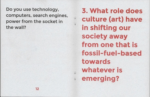 BREAK DOWN WORKBOOK #1: QUESTIONS FOR EVALUATING ART THAT CONCERNS ITSELF WITH ECOLOGY thumbnail 2