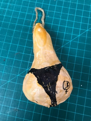 Pear in Thong XXX-Mas Ornament