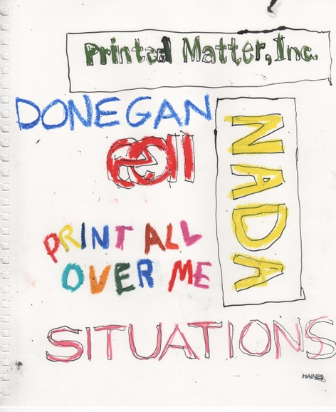 SITUATIONS presents: Cheryl Donegan Zine Launch