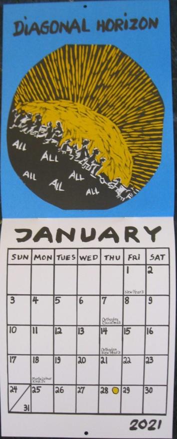 2020 Bread & Puppet Calendar : Diagonal Line thumbnail 2