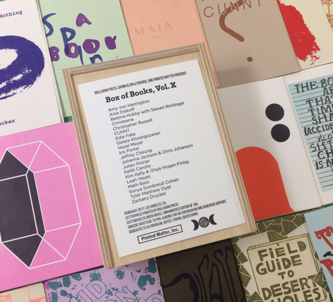 New Publication:  Box of Books by Vol. X by Darin Klein