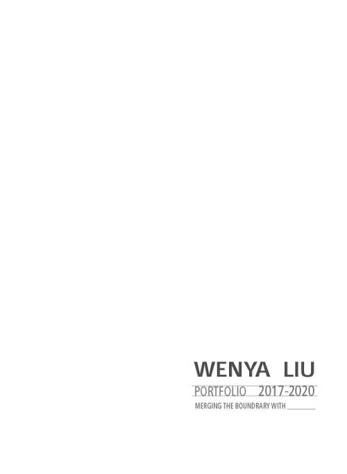 ARCH LiuWenya SP20 Portfolio.pdf_P1_cover.jpg