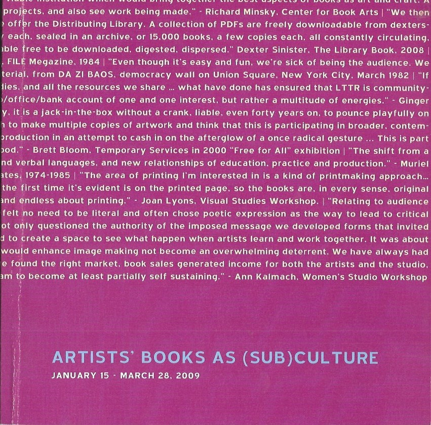 Artists' Books as (Sub)Culture