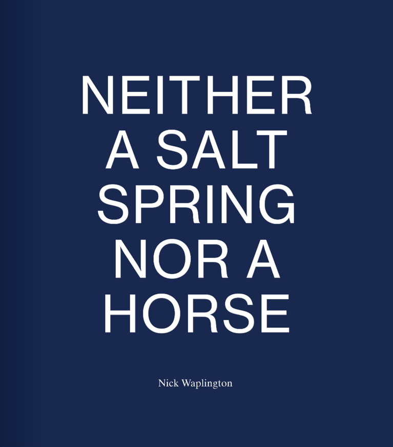 Neither a Salt Spring Nor a Horse