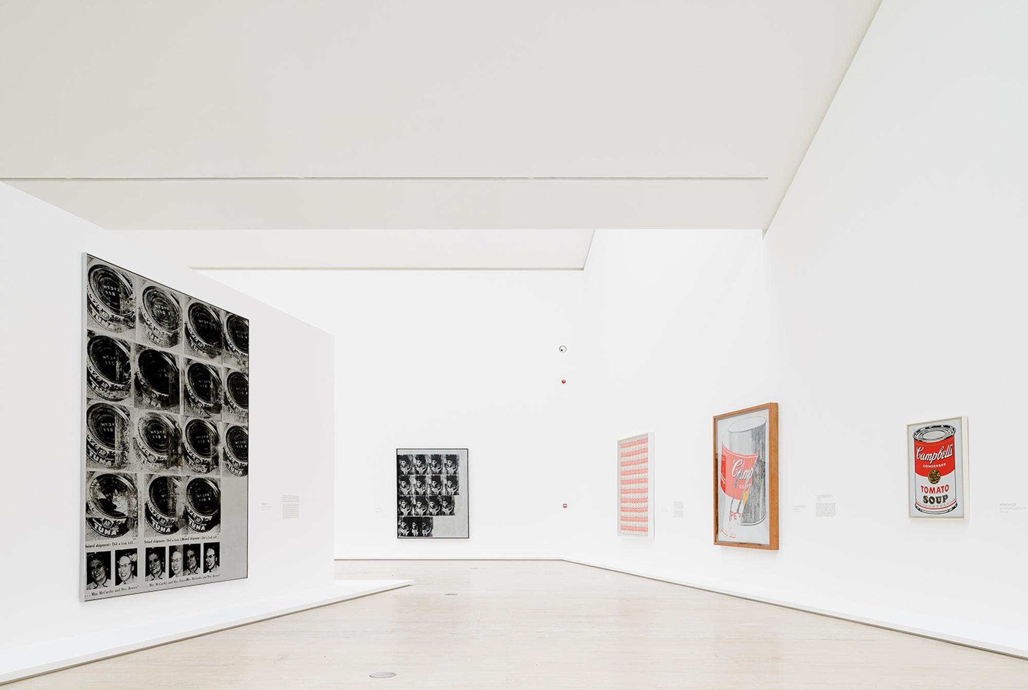 vista de la exposicón de Andy Warhol en México