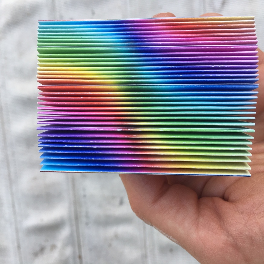 inverted rainbow hue variations (cascading accordion) thumbnail 5