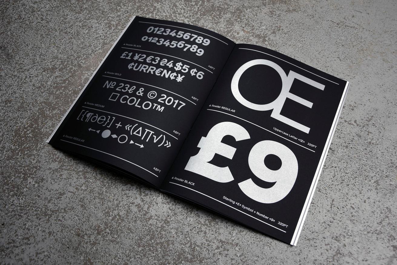 Colophon Foundry - Reader Specimen - Printed Matter