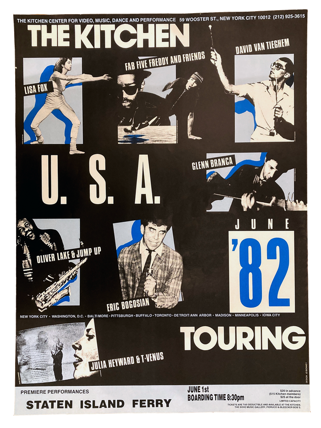 The Kitchen U.S.A. Touring: '82, June 1, 1982 [The Kitchen Posters]