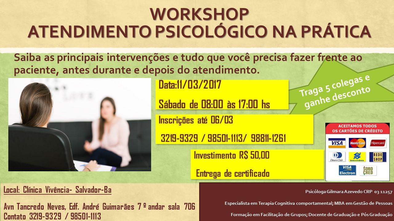 Workshop - Atendimento Psicológico na Prática