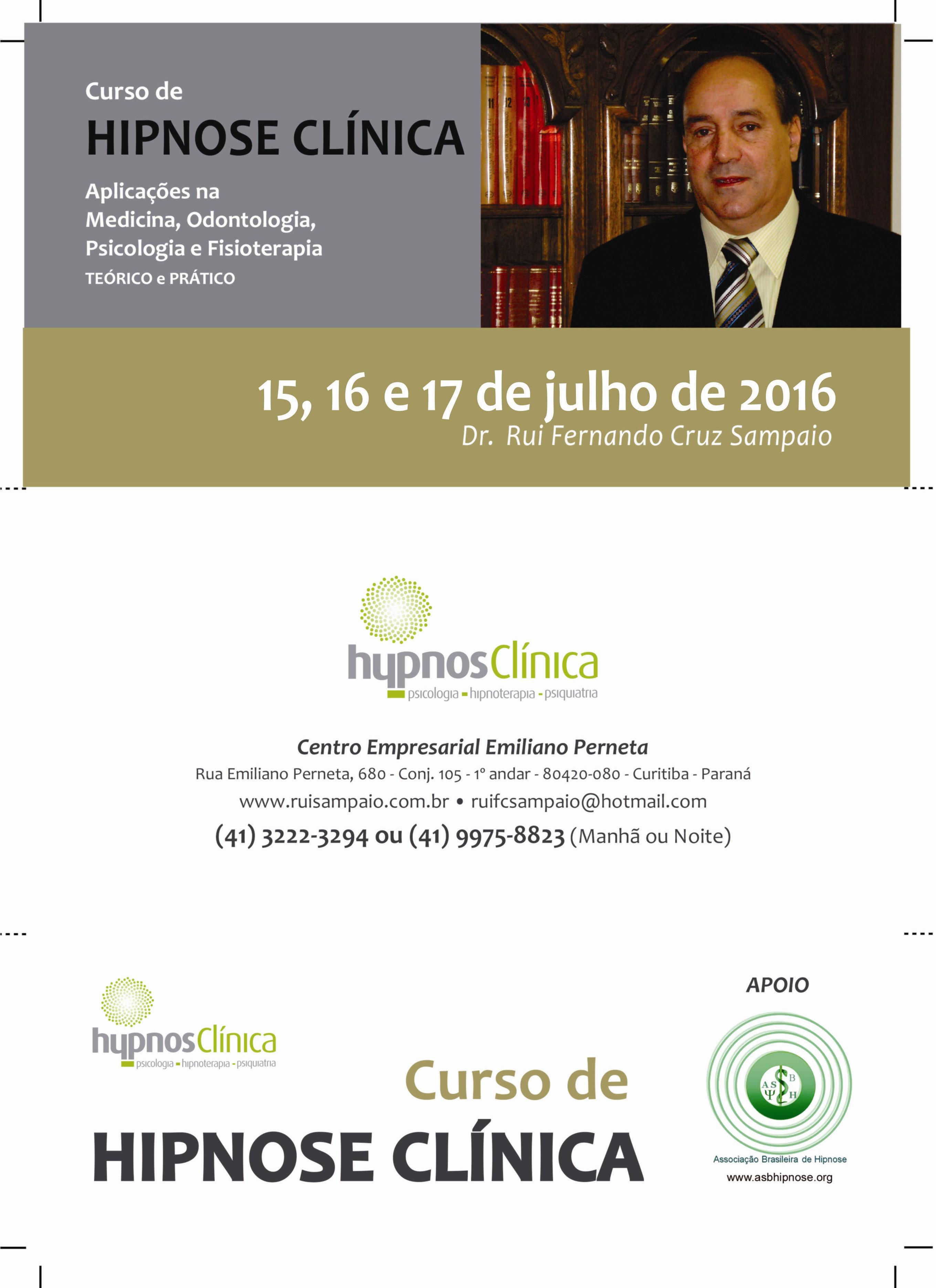 Curso de Hipnose Clínica - Dr. Rui Sampaio