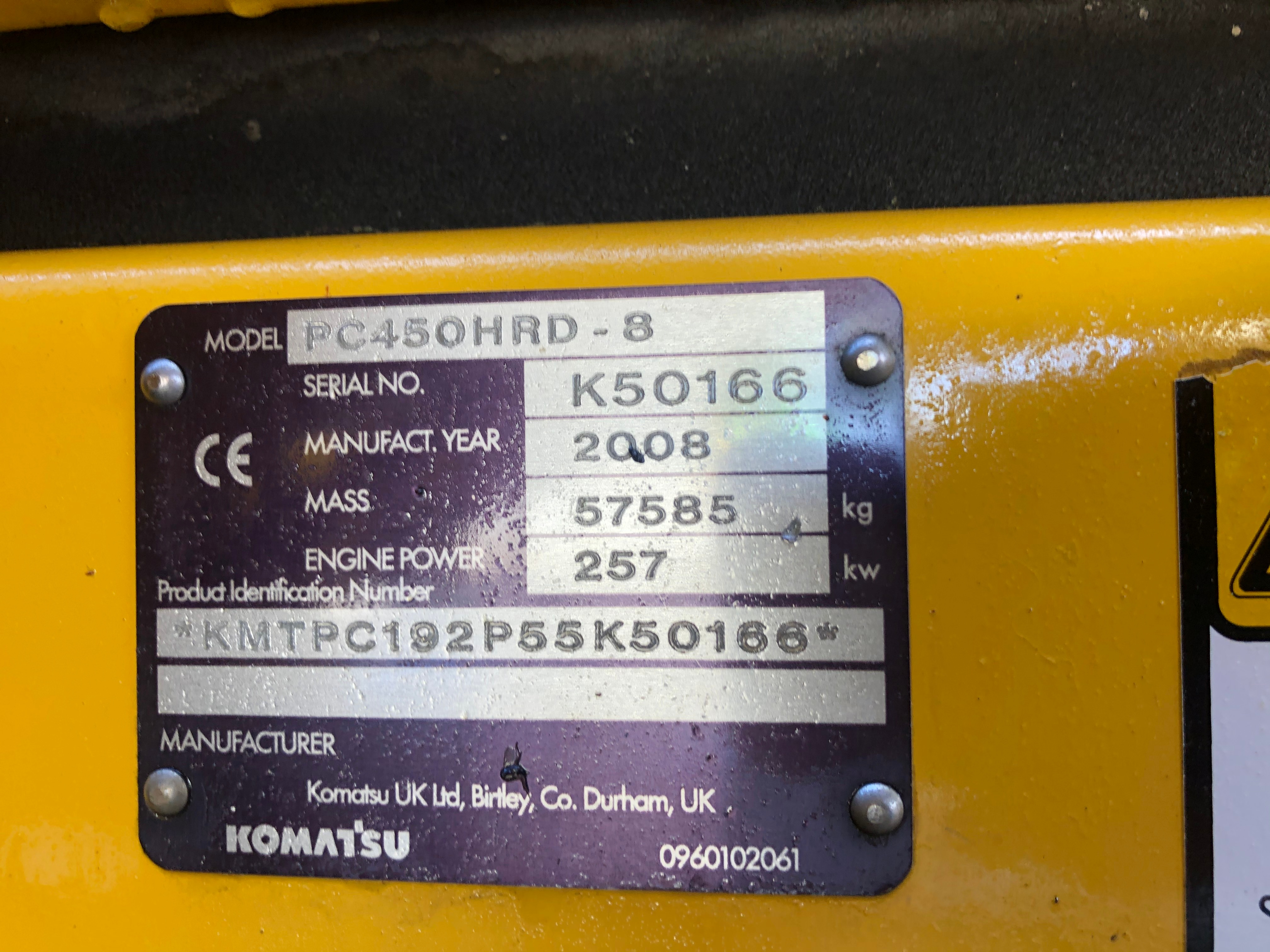 Used 2008 Komatsu PC450HRD-8 For Sale