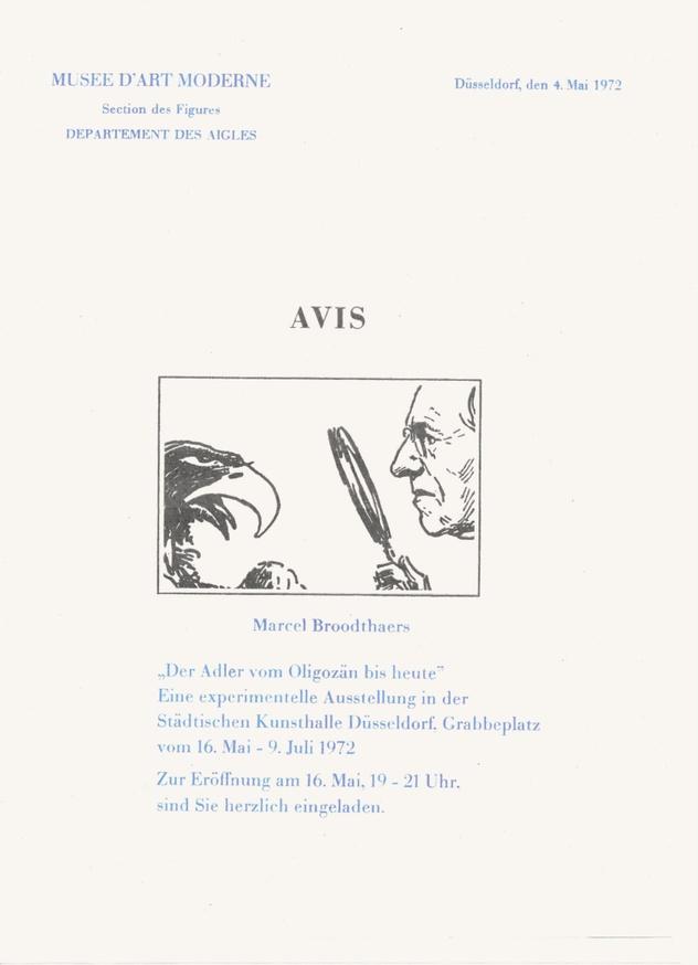 "Dusseldorf 1972 ""Musee d'Art Moderne, Departement des Aigles"" Press Pack Bootleg"
