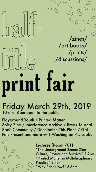 NYU Half-Title Print Fair