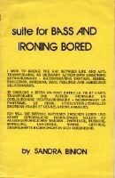 Suite for Bass and Ironing Bored