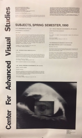 Center for Advanced Visual Studies : Subjects, Spring Semester, 1990