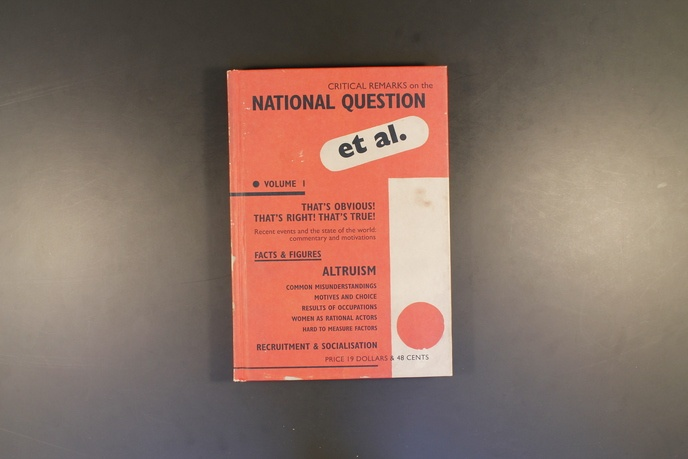 Critical Remarks On The National Question