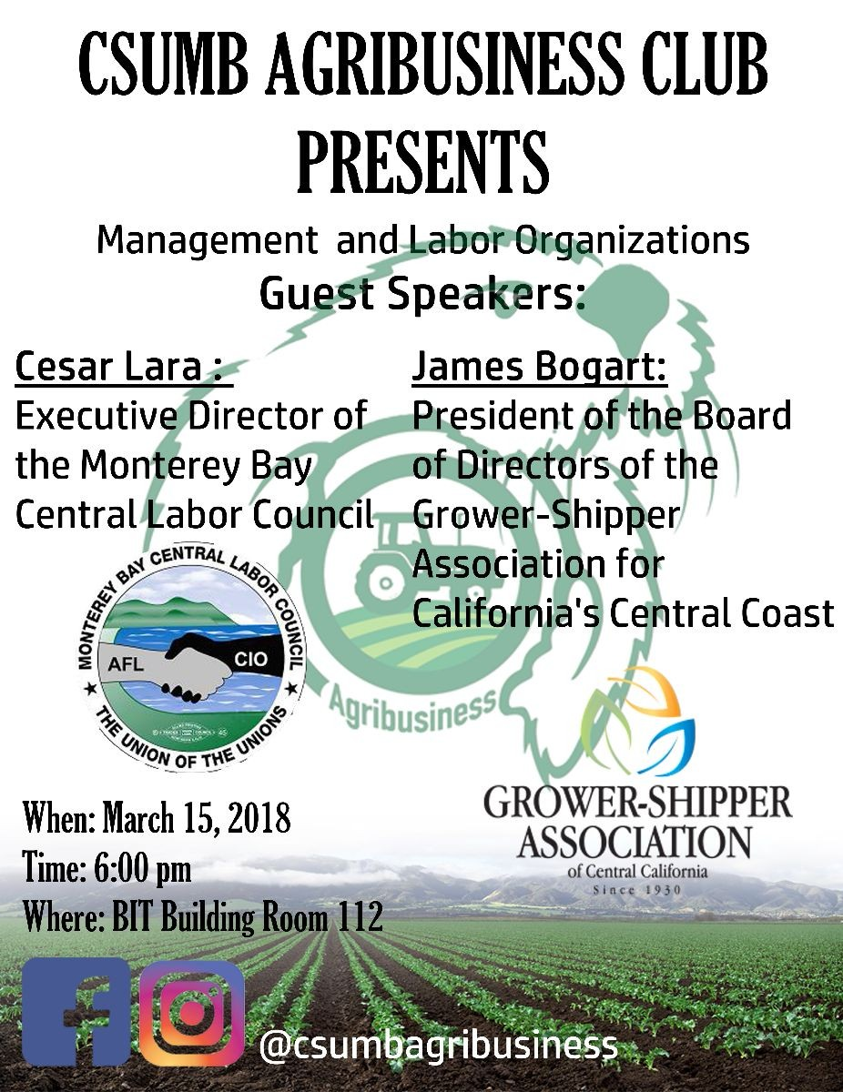 Agribusiness Club Speaker Series