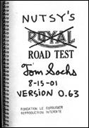 Nutsy's Road Test Version 0.63