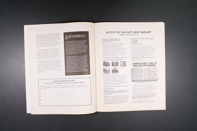 The Guerrilla Girls' Art Museum Activity Book thumbnail 3