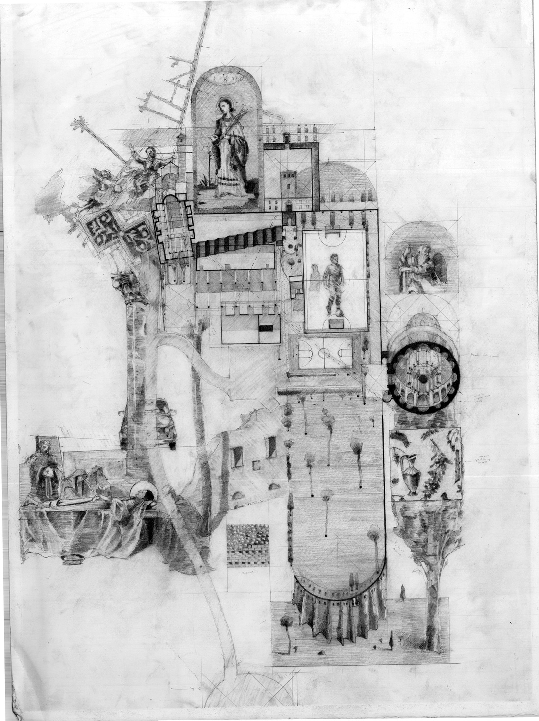 Drawing of Rome