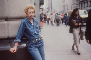 Linda Montano as Bob Dylan, 1989