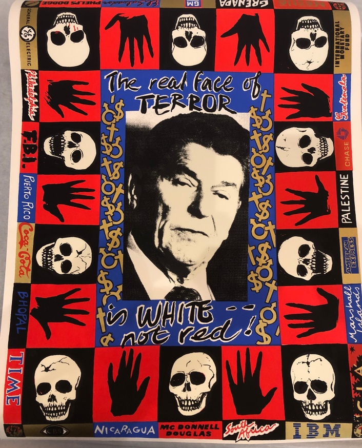 Untitled [The Real Face of Terror Is White Not Red] Poster