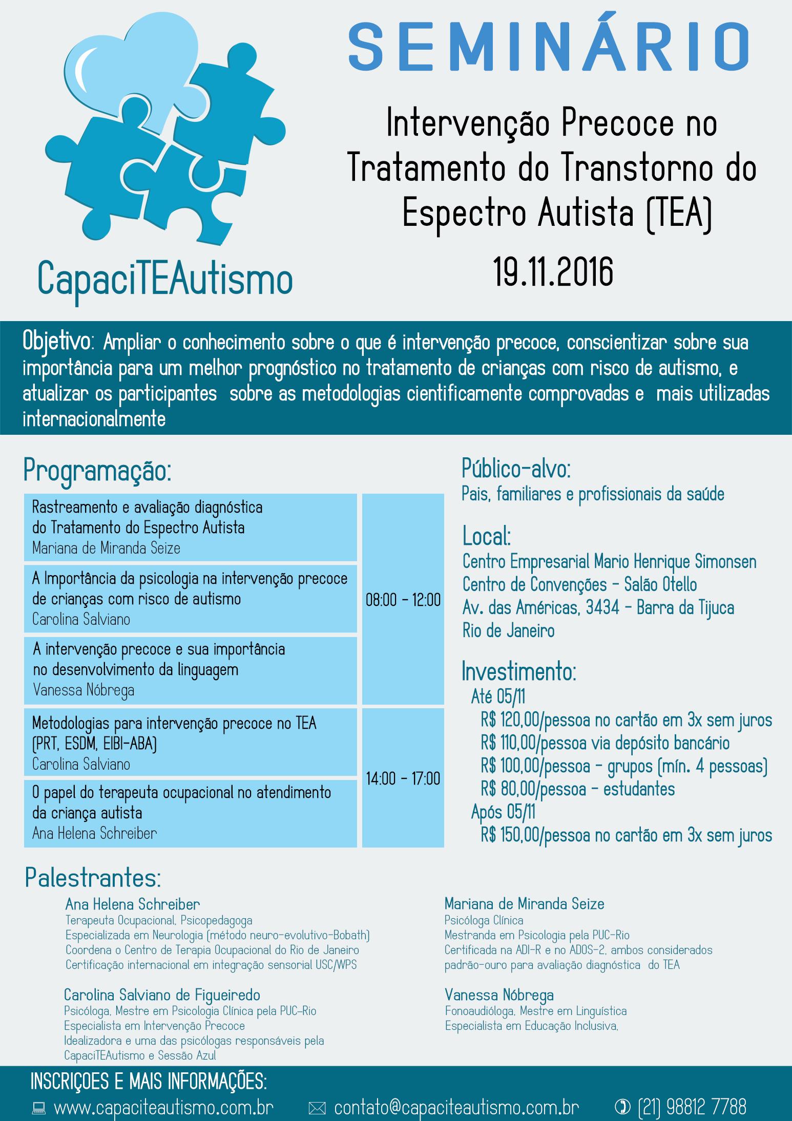 Intervenção Precoce no Tratamento do Transtorno do Espectro Autista (TEA)
