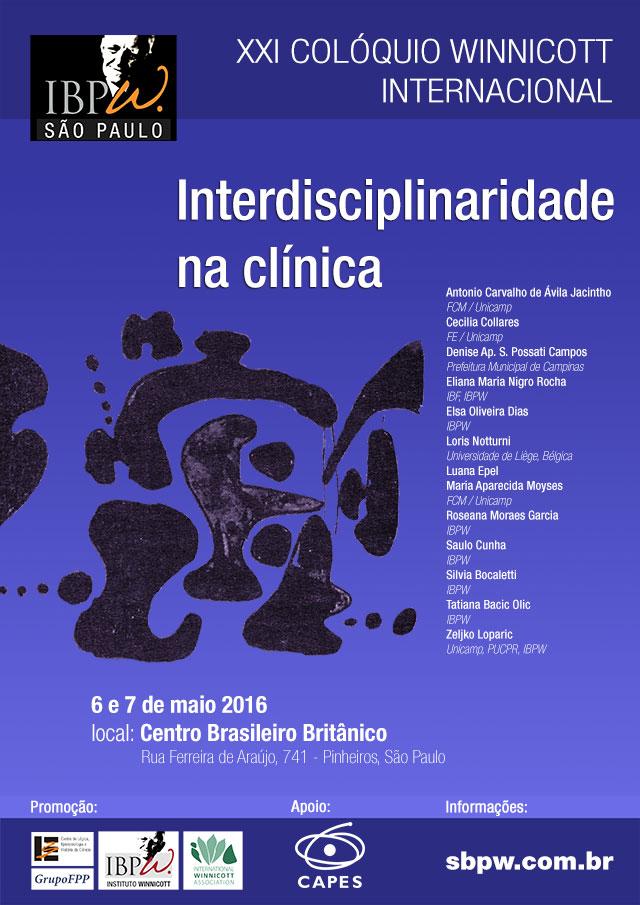 XXI Colóquio Winnicott Internacional: Interdisciplinaridade na clínica