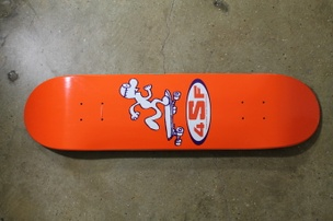 Gary Panter Skateboard: Orange/Black