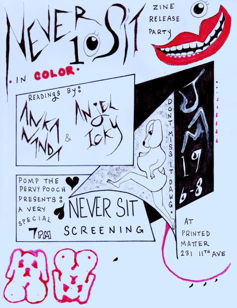 Never Sit - Issue 10 Zine Launch