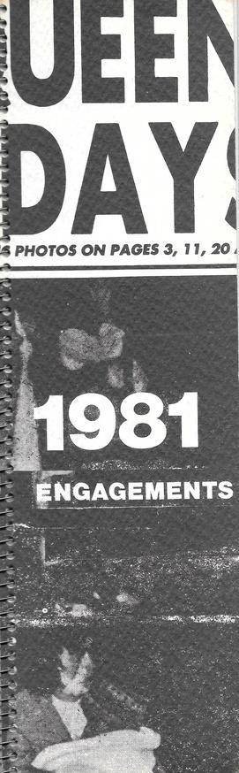 Engagements Calendar 1981