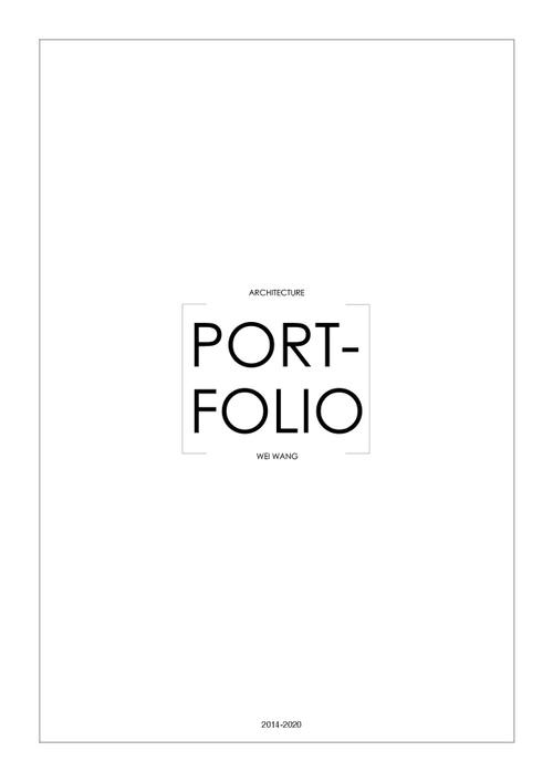 AAD WangWei SP20 Portfolio.pdf_P1_cover.jpg
