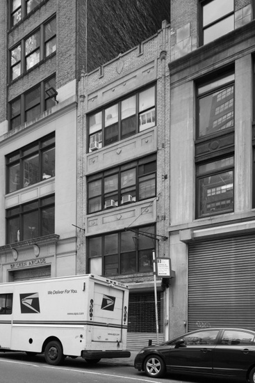 FIG. 10: 240 West 38th Street, home to the Corduroy Club from 1967 to 1971, 2016. Photograph by Christopher D. Brazee/NYC LGBT Historic Sites Project.