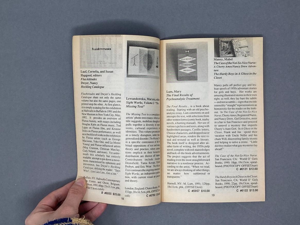Printed Matter 1992 Summer Catalog thumbnail 5