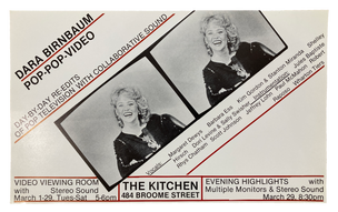 Pop-Pop-Video, March 29, 1980 [The Kitchen Posters]