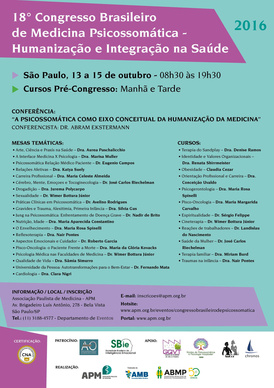 18º Congresso Brasileiro de Psicossomática