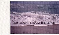 Lou-Lou and Lena at the beach