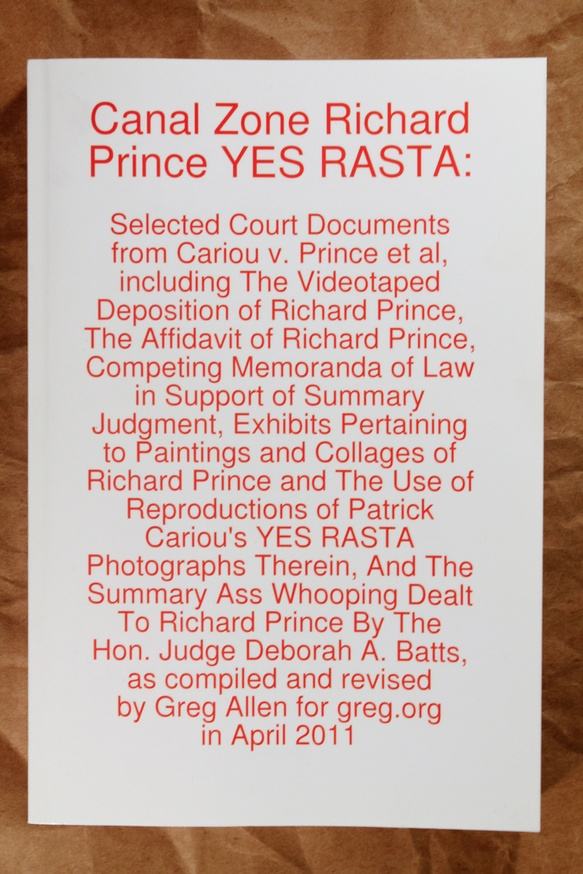 Canal Zone; Richard Prince; YES RASTA thumbnail 4
